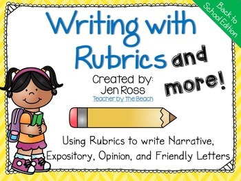 Writing with Rubrics and More! {Back to School Edition}