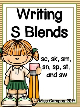 Writing with S Blends: 7 Little Writers' Readers