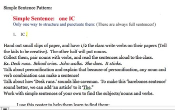 Writing with Simple, Compound, and Complex Sentences
