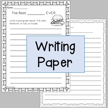 Writing with Transition Words:Grade Three