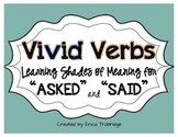 """Vivid Verbs {Alternative Words for """"Asked"""" and """"Said""""}"""