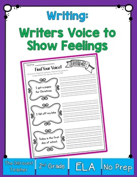 Writing with Voice: Adding Sensing and Feeling Words