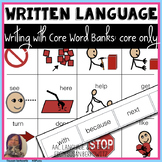 Writing with Word Banks Core Words for Emergent Writers an