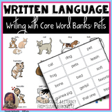 Writing with Word Banks - Pet Topic Words for Emergent Wri