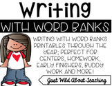 Writing with Word Banks; word bank printables through the year