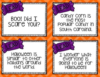 Writing with a lead: Halloween Practice