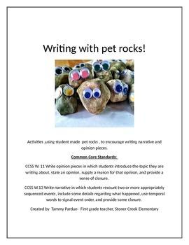 Writing with pet rocks