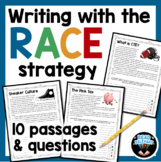 RACE Strategy Writing Practice Passages and Questions