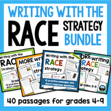 RACE Strategy Writing Prompts and Passages BUNDLE Distance