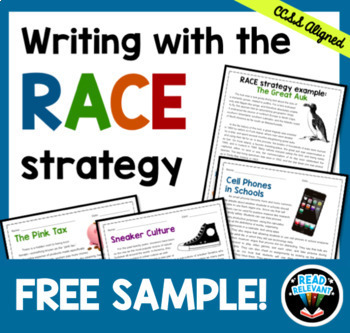 Writing with the RACE Strategy FREE