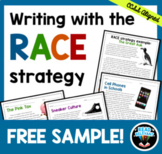 RACE Strategy Writing Activity Worksheets FREE