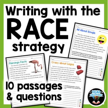 RACE Strategy Writing Grades 4-6 Distance Learning Independent Work