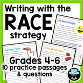RACE Strategy Writing Passages and Prompts for Grades 4-6