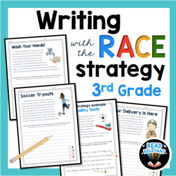 Writing With The Race Strategy For 3rd Grade