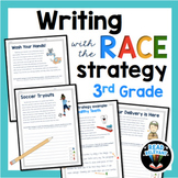 RACE Strategy Writing 3rd Grade Prompts and Passages | Dis