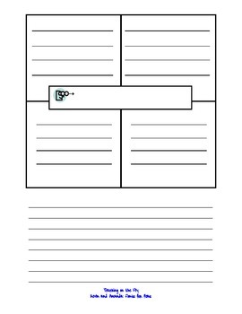 4-Square Organizer: 5 Senses Writing Journal