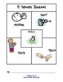 4-Square Organizer: 5 Senses Writing Journal