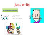 Writing workshop display for whiteboard
