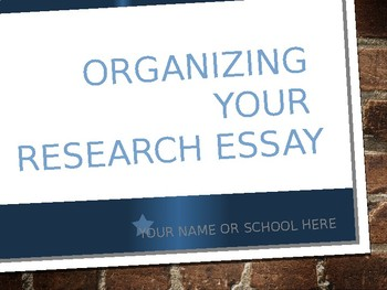 Writing your Research Essay (Getting Started)