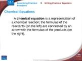 Writing/Balancing Chemical Equations