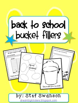 Writing/Reading Comprehension Back to School {Bucket Fillers}