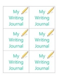 Writing/Science Journal Labels