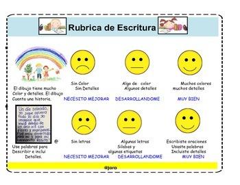 Writings rubrics/rubrica de escritura