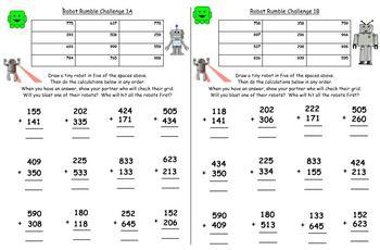 Written Addition Grade 2 NBT.B.7 Differentiated Worksheets & Activities