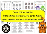 Written Addition - Differentiated Worksheets and Partner G