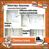 Written Addition Method interactive notebook math foldable