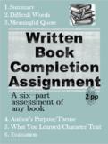 Written Book Completion Assignment