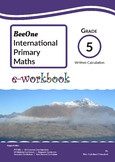 Grade 5 Written Calculation Workbook of 35 pages from BeeO