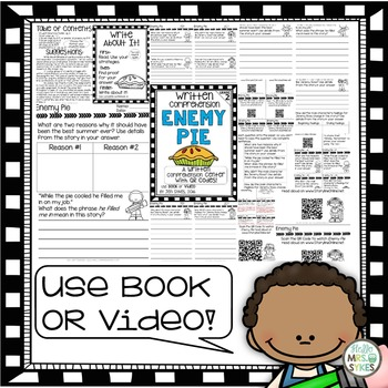Written Comprehension - Enemy Pie with QR code mClass TRC Questions