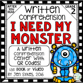 Written Comprehension - I Need My Monster with QR code mClass TRC Questions