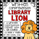Written Comprehension - Library Lion with QR code mClass TRC Questions