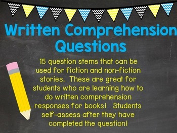 Written Comprehension Responses