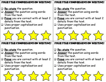 Written Comprehension Rubric- RAP Strategy