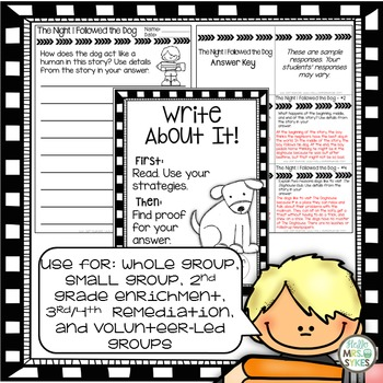 Written Comprehension - The Night I Followed the Dog mClass TRC Questions
