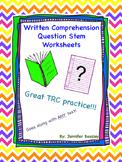 Written Comprehension Worksheets--Freebie