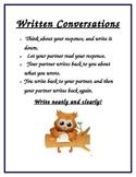 Written Conversation Protocol Anchor Chart