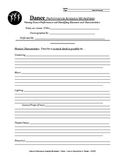 Written Dance Analysis Worksheet - English Version