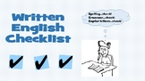 Written English Checklist