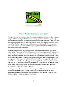 Written Expression Awareness
