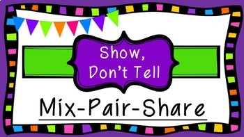 Written Expression Show, Don't Tell Presentation with Graphic Organizers