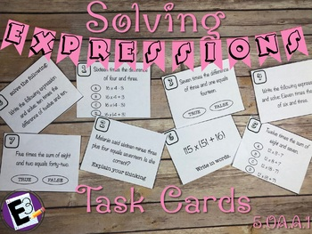 Written Expressions Task Cards