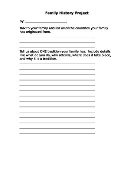written family history report by kristin tosh teachers pay teachers