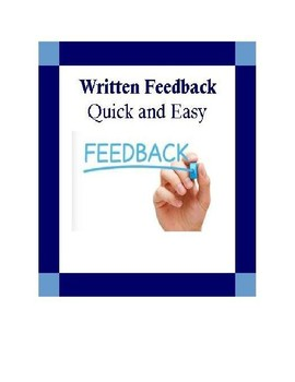 Written Feedback-Quick & Easy