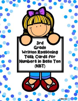 Written Reasoning Task Cards for Numbers in Base Ten (NBT)