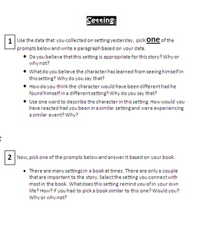 Written Reflections Based on Books Read - Using Strategies