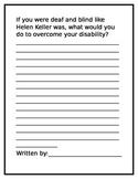 Written Response:  Helen Keller